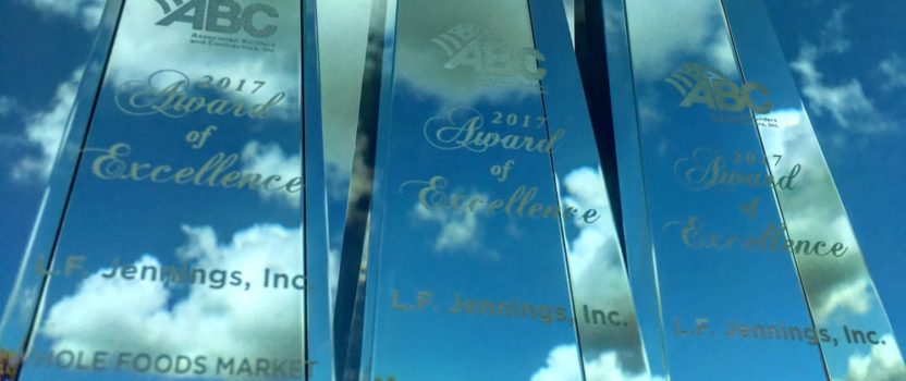L.F. Jennings Wins Three ABC Excellence in Construction Awards